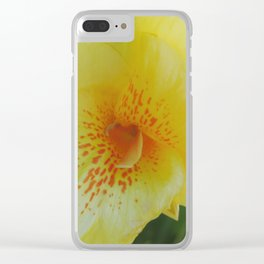 Yellow Canna Lily in Bloom Clear iPhone Case