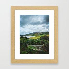 Best bench in Scotland Framed Art Print