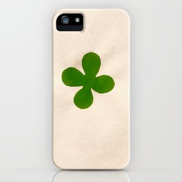 Solo green leaf iPhone Case