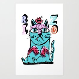Rizo Cat's Lost Time Art Print