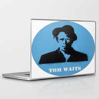 tom waits Laptop & iPad Skins featuring Tom Waits Record Painting by All Surfaces Design