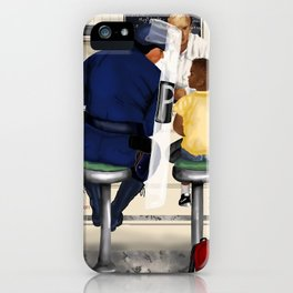 If Norman Rockwell Lived in Today's Society iPhone Case