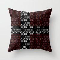denmark Throw Pillows featuring digital Flag (Denmark) by seb mcnulty