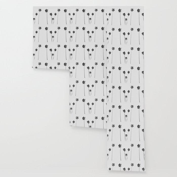 Black & White Palms Wallpaper