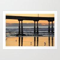 Ocean Beach Pier San Diego Art Print