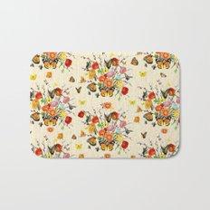 Butterfly Bouquet on Raw Silk Bath Mat