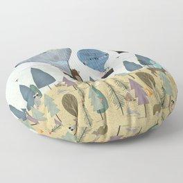 a little woodland adventure Floor Pillow