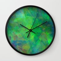 emerald Wall Clocks featuring Emerald  by Christy Leigh