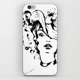 The lady with the hat iPhone Skin