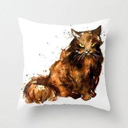 Cat series 2012: Pumpkin Puss Throw Pillow