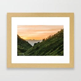 Hillside Sunset Framed Art Print
