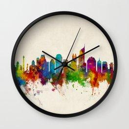 Jakarta Skyline Indonesia Wall Clock
