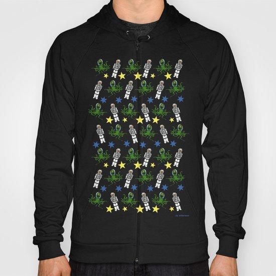 Aliens & Astronauts pattern Hoody
