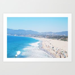 Santa Monica Beach II Art Print