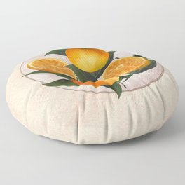 A Plate of Oranges Floor Pillow