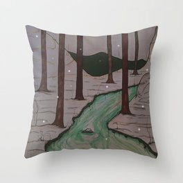 Winters Embrace Throw Pillow