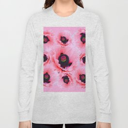 PINK POPPIES COLLAGE Long Sleeve T-shirt