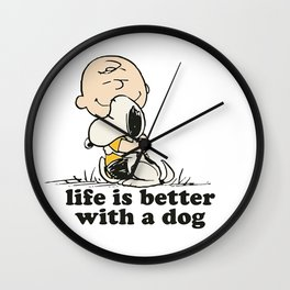 Snoopy and Dog Wall Clock