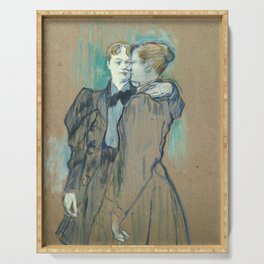 """Henri de Toulouse-Lautrec """"Deux femmes valsant"""" Serving Tray"""
