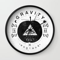 gravity Wall Clocks featuring Gravity by Farnell