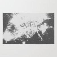big bang Area & Throw Rugs featuring Big Bang by Jonasethomsen