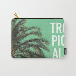 Vintage summer tropical typography palm tree photography Carry-All Pouch