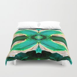 206 - Hosta plant abstract design Duvet Cover