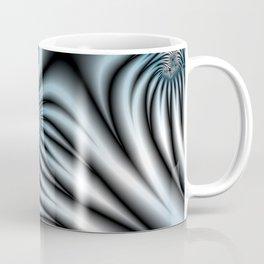 Blue Zebra Fractal Coffee Mug