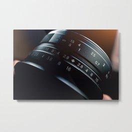Photography Lens closeup Metal Print