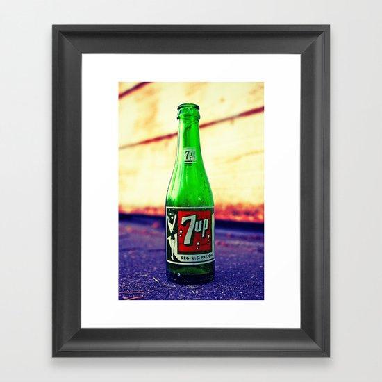 7up nostalgia Framed Art Print