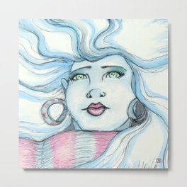 Winter Gaze Metal Print