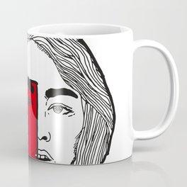 All red. Coffee Mug