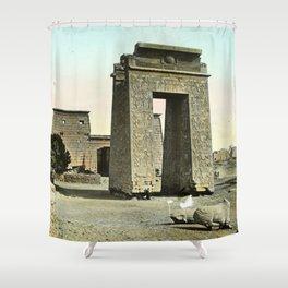 Karnak. Gate and Pylon Shower Curtain