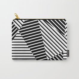 Abstract Striped Triangles Carry-All Pouch