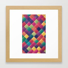 Colorful Diamond Framed Art Print