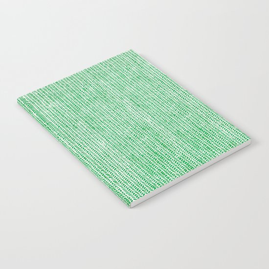 Stockinette Green Notebook