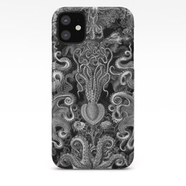 The Kraken (Black & White - No Text) iPhone Case