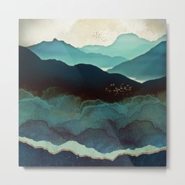 Indigo Mountains Metal Print