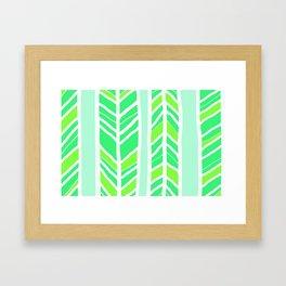Stripes: Greenies Framed Art Print