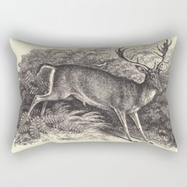 Antique Deer Rectangular Pillow