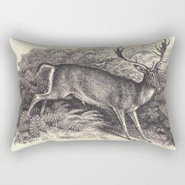 Antique Deer Rectangular Pillow