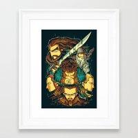 the hobbit Framed Art Prints featuring The Hobbit by anggatantama