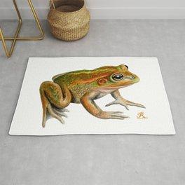 Australian Growling Grass Frog - Original artwork by Ronelle Designs Rug