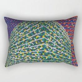At a corner Rectangular Pillow