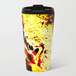 Abstract Kangaroo Travel Mug