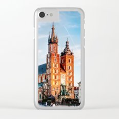 Cracow Main Square Clear iPhone Case