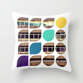 Cold Comfort Collage — Frontline Throw Pillow