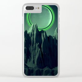 Green Evening Clear iPhone Case
