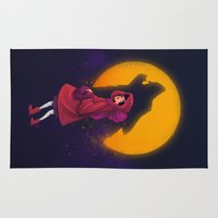 red riding hood Area & Throw Rugs featuring Red Riding Hood by Blanca Limón