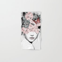 WOMAN WITH FLOWERS 10 Hand & Bath Towel